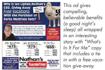 Direct Tv Internet Review >> Three Secrets of Traffic Building Newspaper Ads | Furniture World Magazine