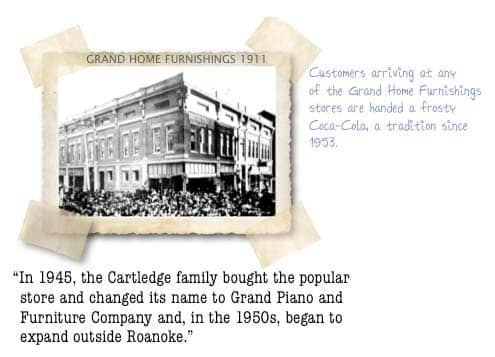 In 1945, The Cartledge Family Bought The Popular Store And Changed Its Name  To Grand Piano And Furniture Company And, In The 1950s, Began To Expand  Outside ...