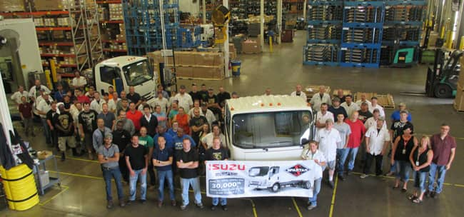 isuzu and spartan motors celebrate production of the 30