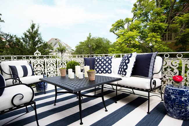 Woodard partners with consumer magazines on showhouses for Outdoor furniture new orleans
