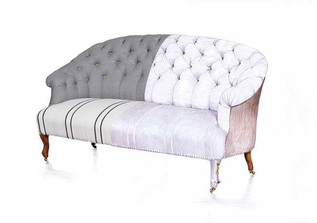 The Popular Fingerprint Capitonné Sofa Is Now Available In Bunakarau0027s  Laurel Colorway Which Features A Soft Mix Of Neutral Fabrics, Including A  Khaki Toned ...