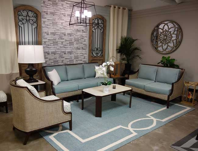 the hampton outdoor collection with libby langdons madison rug