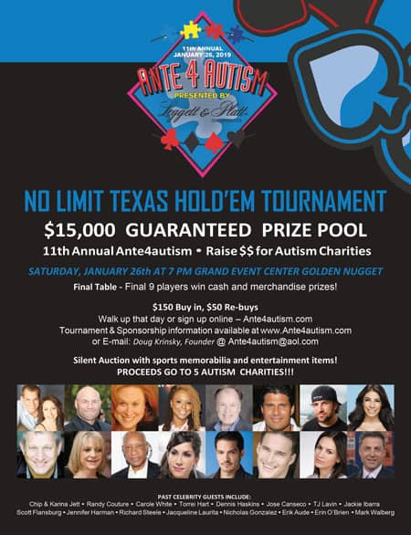 Ante4autism Announces Sponsors For 11th Annual Event