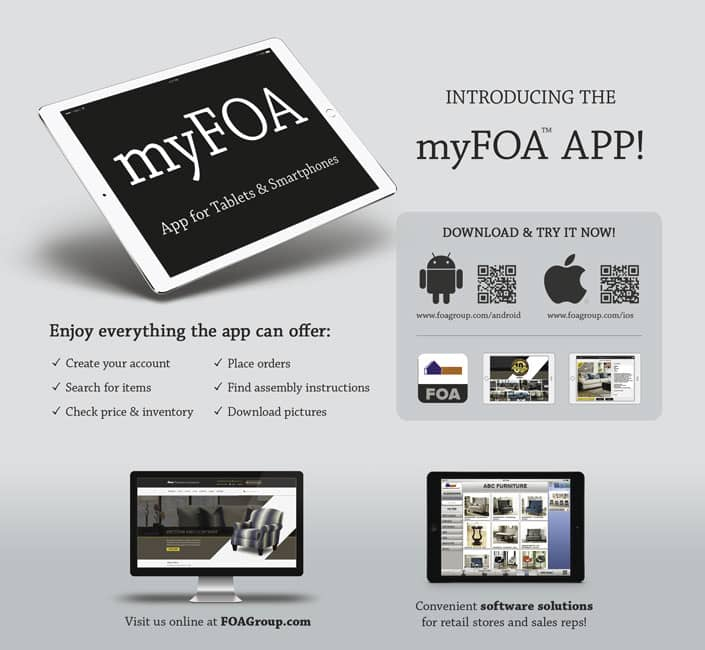 Furniture Of America Reports That It Has Created The U201cmyFOA APPu201d, Which Can  Be Downloaded Now From The Apple App Store Or Google Play Store.